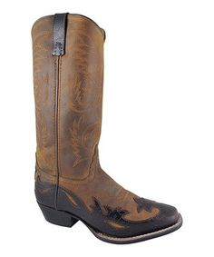 Love this Smoky Mountain Boots Brown Cassidy Cowboy Boot - Women by Smoky Mountain Boots on #zulily! #zulilyfinds