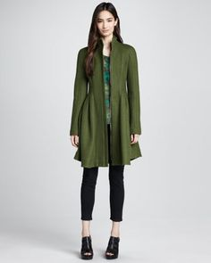 Skyscape A-Line Wool Coat