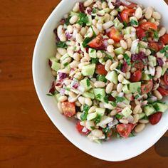 A perfect no-cook meal for summer - White Bean Salad