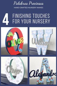 As you complete your little ones nursery, a final personal touch is all that is need.  Add one of these cute nursery wooden monograms to your wall decor to make your nursery perfect.  Custom decorated to your nursery decor. #nurserydecor #boynursery #babyboy #newborn #nursery #nurseryideas #nurseryinspo #momtobegifts #babyshower