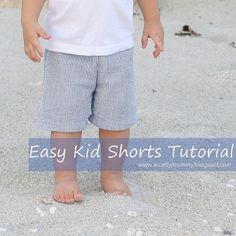 Easy Kid Shorts by A Crafty Mommy