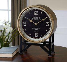 Uttermost Shyam Table Clocks : 06094   Kirby Risk