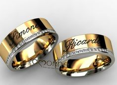 al _shine(nome) Black Diamond Wedding Sets, Wedding Rings Sets Gold, Gold Rings, Wedding Ring For Him, Wedding Ring Bands, Couple Ring Design, Couple Rings, Promise Rings, Beautiful Rings