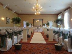 Glamorous, elegant civil ceremony dressing at Shrigley Hall Hotel, Cheshire.