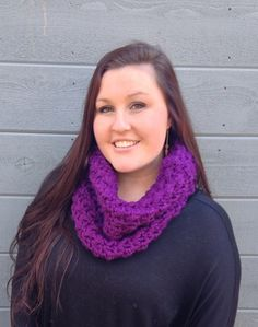THE NOR'EASTER•• chunky purple cowl