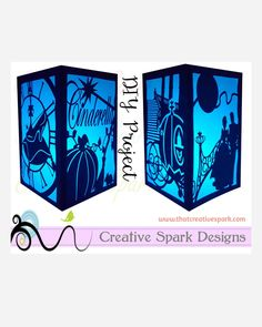 Cinderella Paper Lantern DIY Project SVG digital download for die cutting, party, centerpieces, wedding, decor, children, shower, Disney by CreativeSparkDesigns on Etsy