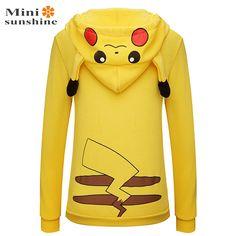 Pokemon Go Face Pikachu Totoro Costume Hoodie Sweatshirt //Price: $30.16 & FREE Shipping //   #dragonballz #anime