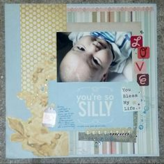 You're So Silly Scrapbook Page