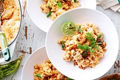 Thai Chicken Risotto- Here aromatics, such as chilli, kaffir lime leaves, and garlic, enhance the flavour of everyday risotto.