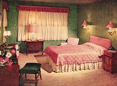 retro bedroom, mid century bedroom, retro renovation bedroom, bedroom makeover, 1950s bedroom, retro realty