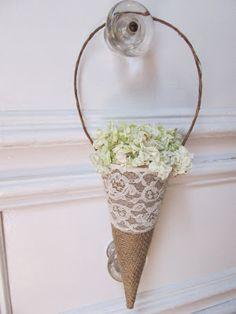 zsákvászon+csipke+virágtartó