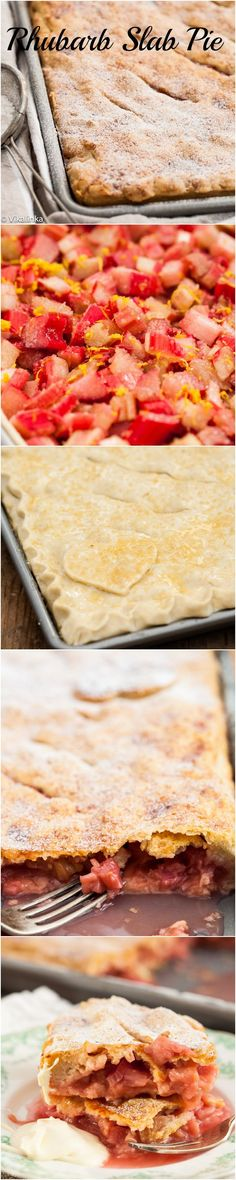 Rhubarb Slab Pie // love, love, love rhubarb, have to try this #summer