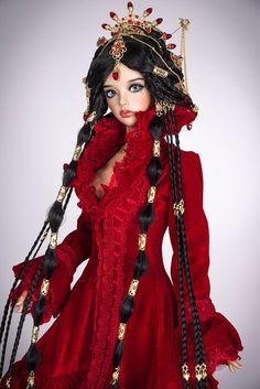 https://flic.kr/p/GrJhmf | Ruby queen | New extra-long luxury wig! www.etsy.com/ru/listing/277782854/ruby-queen-arabian-fant... Wonderful arabian fantasy hairstyle for your doll. Lenght about 70 cm. Heat-resistant fiber custom wig with difficalt design. All gems and accessories included in hairstyle. Free shipping. The wig has an elastic cap of white color with an elastic band, that you don't need a silicone cap. ~ Our wigs are versatile, they are suitable for many dolls with a similar...