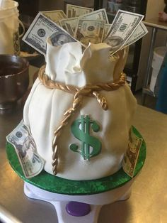 Money Bag Cake #coupon code nicesup123 gets 25% off at Provestra.com Skinception.com