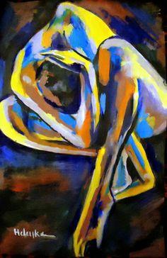 "Saatchi Online Artist Helena Wierzbicki; Painting, """"Inner reality"""" #art"