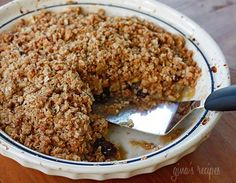 """Skinny"" Cinnamon Apple Crisp - Seriously people, I made this for Thanksgiving dessert and it was the best apple crisp I've ever had.  Instead of agave nectar, I used light brown sugar & honey.  Make this!"