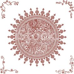 stock-illustration-8585827-mehndi-mandala-and-corners.jpg (556×556)