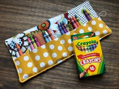 Excited to share this item from my #etsy shop: Crayon Roll