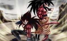 SSJ4 Vegeta and Goku (Me: *currently having a fangirl overload)