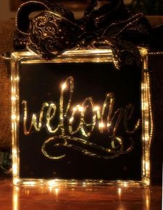 Glass Block Craft Ideas | Welcome Glass Block Decals - Trading Phrases, Go To ... | craft ideas