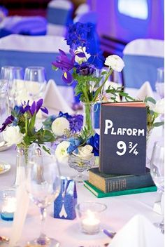 literary wedding. Name tables after fictional settings. Imagine the Mr. Darcy table!