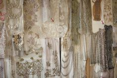 The finest fabrics: laces, silks all rich with unique hand embroidery.