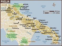 Carta di Puglia map of the FABOULOUS PUGLIA REGION !!!!!!!!!!!!!!!!!!!!!!!!!!!