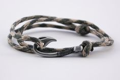 Desert Foliage Paracord Hook Bracelet by ChasingFin on Etsy, $12.00