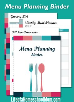 For the month of October, you can get a free download of this printable Busy Mom's Meal Planning Binder.