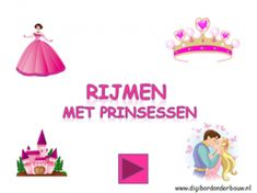 Digibordles: Rijmen met prinsessen op digibordonderbouw.nl Aladdin, Knight, Kindergarten, Letters, School, Kids, Carnival, Superheroes, Young Children