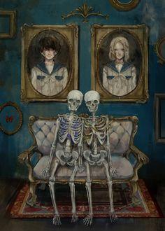 Art Inspo, Kunst Inspo, Inspiration Art, Art And Illustration, Dark Art Illustrations, Art Anime, Anime Art Girl, Dark Fantasy Art, Arte Horror