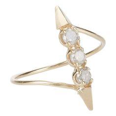 Loren Stewart Diamond & Gold Orbital Ring at Barneys.com