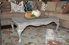 weathered grey coffee table, painted furniture, shabby chic, Weathered Grey Coffee Table Redo
