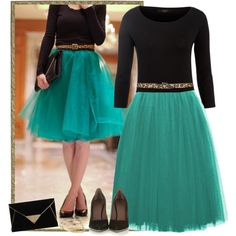 Tulle skirt style steal!, created by jamie-burditt on Polyvore