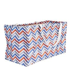 17536a57f5 Household Essentials Krush Rectangle Container In Chevron Blue