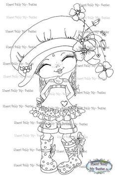 INSTANT DOWNLOAD Digital Digi Stamps Big Eyed Besties Big Head Dolls fancy pants little pixie's new boots By Sherri Baldy
