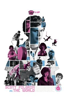Scott Pilgrim vs. The World - Mosaic Poster    This is an original poster designed by me, the artist. Digitally printed on 80lb matte card stock. 11x17