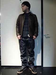 WOOL LOW GAUGE KHIT CAP http://www.rams-web.com/products/detail4009.html WOOL CHECK SHIRT http://www.rams-web.com/products/detail3973.html STEER HIDE LEATHER JACKET http://www.rams-web.com/products/detail3920.html FIVE POCKET DENIM PANTS http://www.rams-web.com/products/detail3806.html