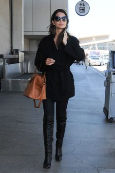 Slideshow: How To Travel In Style: 32 Of The Chicest Celebrity Airport Outfits Ever