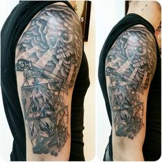 pirate ship.2nd session. Thanks Nicolas. At the tattooed lady, Montreuil, France. mylooz.tatouage@gmail.com