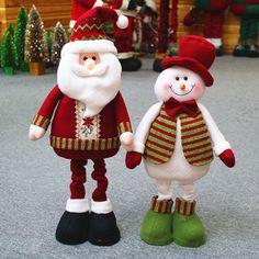 Decoração para casa ano decoração 54 cm * 20 cm papai noel boneco de neve enfeites de natal navidad adornos SHB195 em Decoração de natal de Casa & jardim no AliExpress.com | Alibaba Group