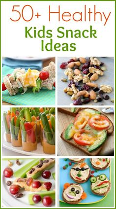50 Healthy Kids Snack Ideas roundup on TastesBetterFromScratch.com