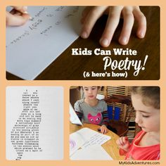 Inspire your family! Learn about fun poetry for kids, then write a poem of your own and share it visually, verbally, or as part of a family poetry slam.
