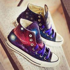 Harajuku japanese galaxy sneakers I WANT THEM SO BAAADDDD!!!!