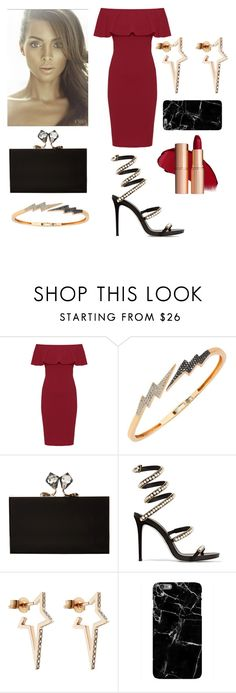 """""""Untitled #431"""" by queenslays ❤ liked on Polyvore featuring WearAll, Bee Goddess, Charlotte Olympia, René Caovilla and Diane Kordas"""