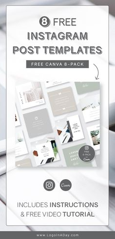 Setup for easy editing in Canva, my 8 FREE Templates will make an awesome difference in your feed! Ready for immediate access, these templates are fully customizable for your brand and I've included easy step-by-step customization instructions! Edit text. Edit photos. Edit colors. Use them over & over again, the possibilities are endless! #canva #freetemplates #canvatemplates #instagramtemplates #blogpromotion Free Instagram, Instagram Feed, Instagram Posts, Edit Photos, Instagram Post Template, Edit Text, Social Media Template, Business Branding, Canvas
