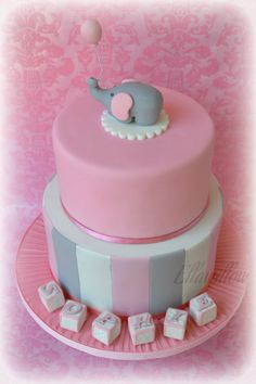 LOVE LOVE LOVE this for a baby shower cake. my future theme for a girl!