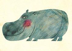 Hippo by Atsushi Hara. Lovely!