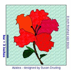 Image detail for -free applique flower quilt block pattern - Azalea to Appliqué