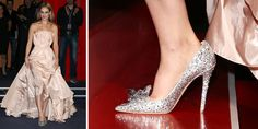 In honor of the latest film adaptation of Cinderella, Jimmy Choo was commissioned to design these silver stunners, which are encrusted with hundred of crystals. (Because glass slippers are so passé.)   - MarieClaire.com